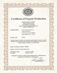 All of our Organic Seeds are Certified Organic by Baystate Organic Certifiers